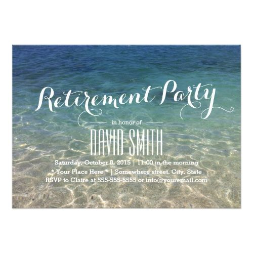 120 best retirement party invitations images on pinterest, Birthday invitations