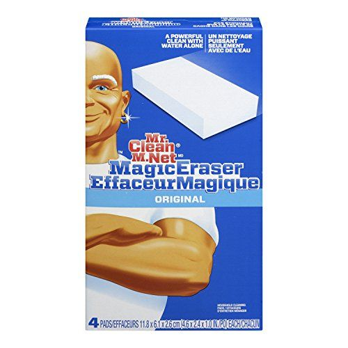 Brighten up your home by helping to renew its surfaces. Mr. Clean Magic Eraser Original will help your walls, baseboards, floors, switch plates, blinds and more look like new again by easily removing scuff marks and dirt. To discover the cleaning possibilities, simply take a swipe. Its water-activated micro-scrubbers reach into the surface grooves, lifting away built up grease and soap scum. The Mr. Clean Magic Eraser Original is so powerful that each swipe removes more grime than the…
