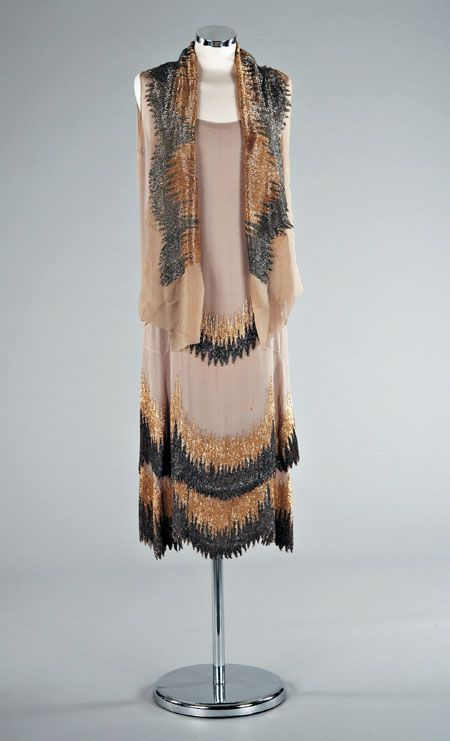1927 Coco Chanel Dress With Matching Scarf, Via Fashion