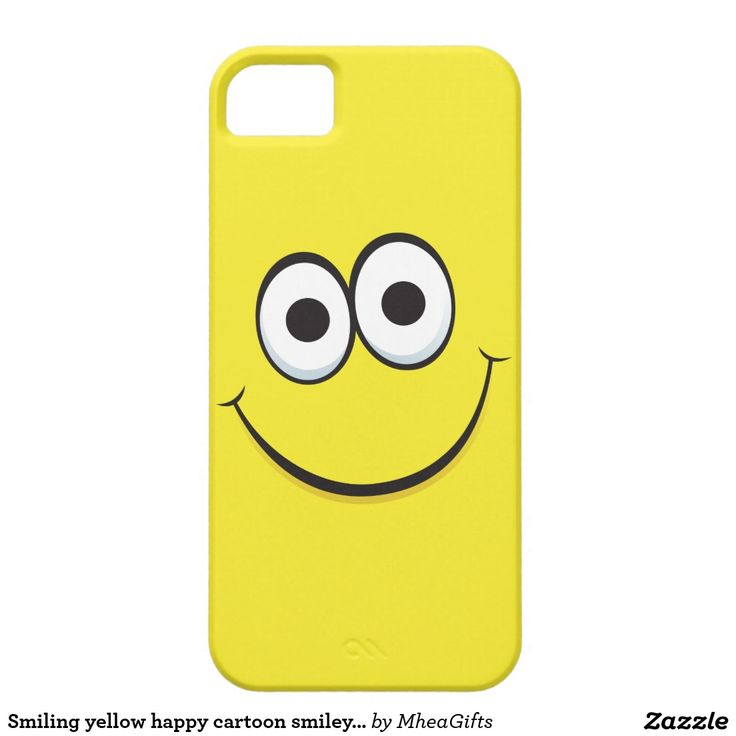 Smiling yellow happy cartoon smiley face funny smartphone case