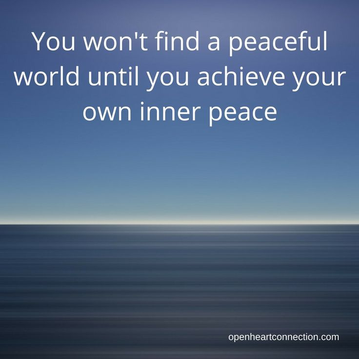 The key to peace in the world?