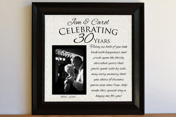 Wedding Anniversary Gift 30th Wedding Anniversary by framedaeon