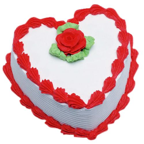 Our delicious heart shaped cake is a well liked by people and well suited for the celebrations of the happy events in your life. Savor its flavor and celebrate your happy moments with this red heart cake. Send cakes online through Shop2Guntur.com to your beloved ones and express your love. The heart shaped cakes show that you are really care about the special person in your life.