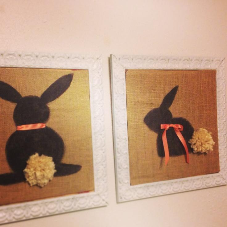 Bunny Birthday Easter decor cover cardboard