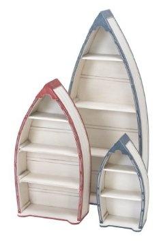 Amazon.com: 41273 Wood Boat Shelf Set Of 3- Purposeful Stylish Nautical Deco: Home & Kitchen