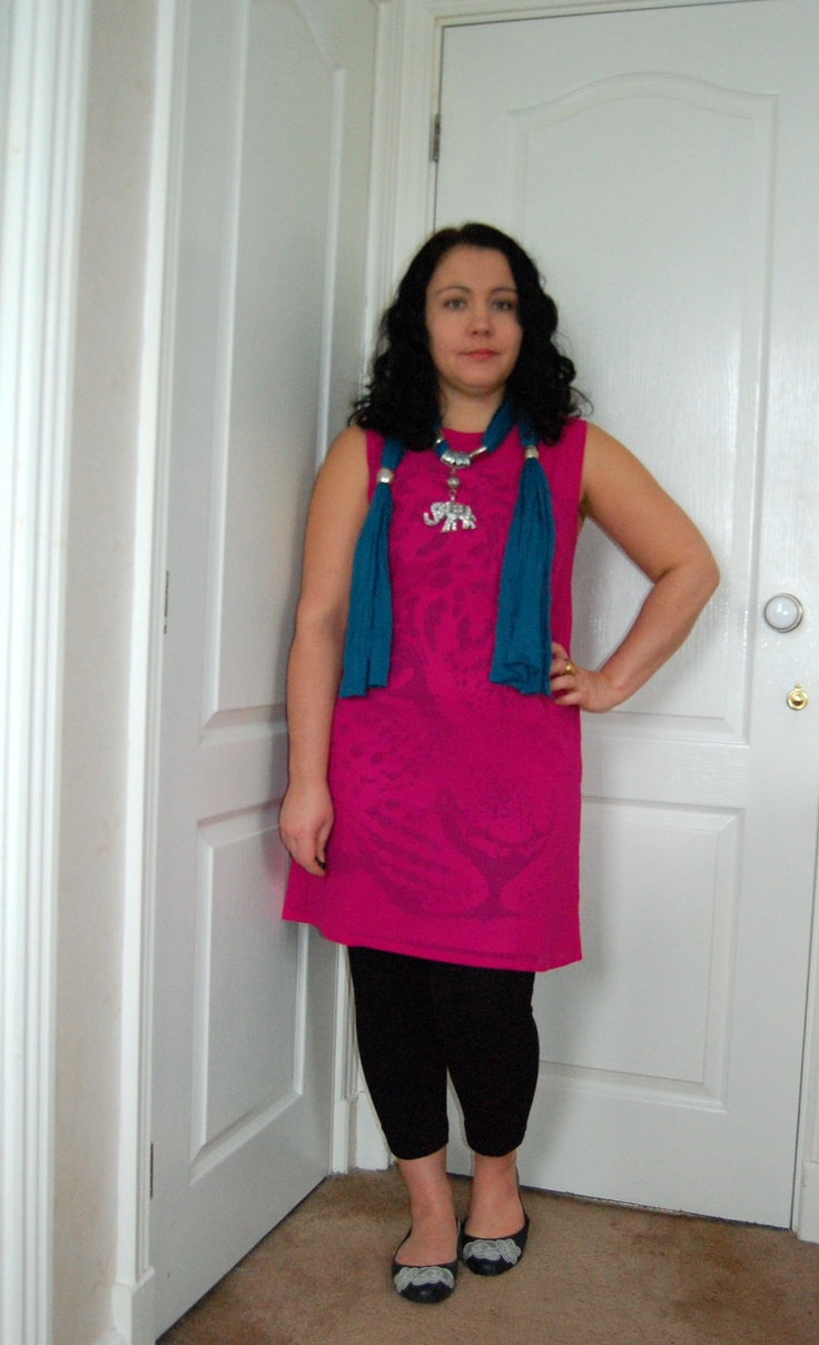 Johari dress, People Tree Leggings and Melissa shoes