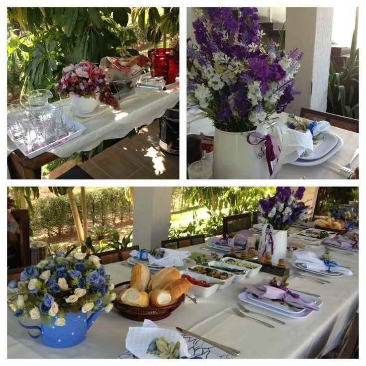 Garden Themed Kitchen Decor: Tuscan Garden Party (in Brazil) #garden #lunch #tuscan