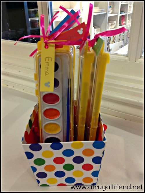 Painting Birthday Party Goodie Bag