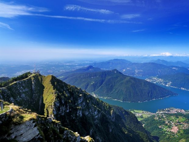 The Monte Generoso is located at the Southern tip of Lake Lugano. It is one of the most exciting panoramic views of Ticino.