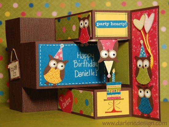 Owl Tri-Fold Shutter Card @ DIY Home Ideas