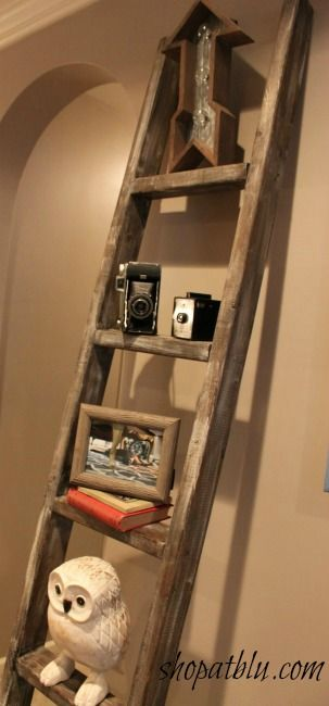 Simple projects to build with 2x4's - Handmade serving or decor tray and tall ladder.