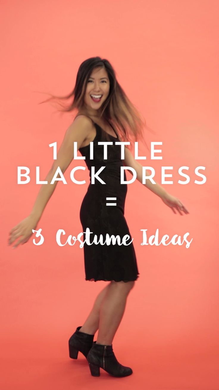 Black dress costume ideas - Create 3 Different Last Minute Halloween Costumes A Cat A Flapper Little