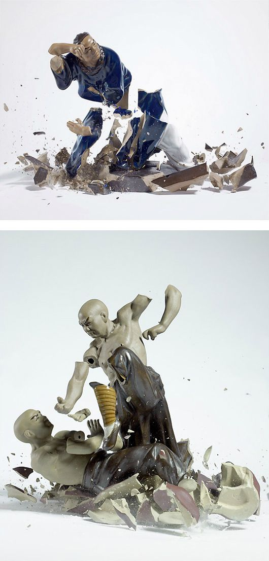 Breaking Porcelain Figurines by Martin Klimas | Inspiration Grid | Design Inspiration