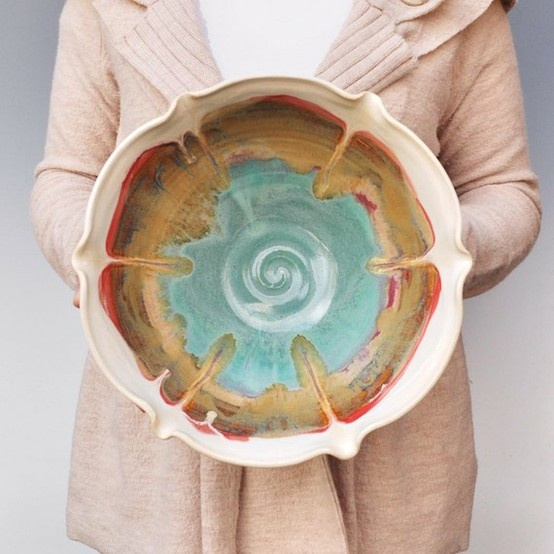 ceramic bowl by Lee Wolfe Pottery