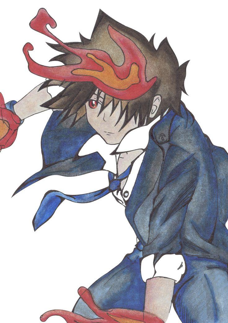 Tsunayoshi Sawada del anime Katekyō Hitman Reborn!   Pintado con rotuladores profesionales y las líneas con tinta china