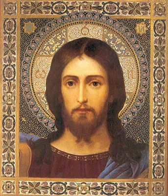 Beautiful Byzantine/Russian Icon of Jesus...I would like to create a minimalist version of one of these with gold and bronze art foil