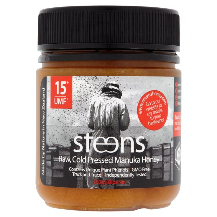 Steens® Manuka Honey UMF Certified 15+ (MGO 514+) | 100% Raw Unpasteurized Honey From New Zealand | Contains Natural Healing Properties for Sore Throats & Immunity | Traceability Code on Each Label