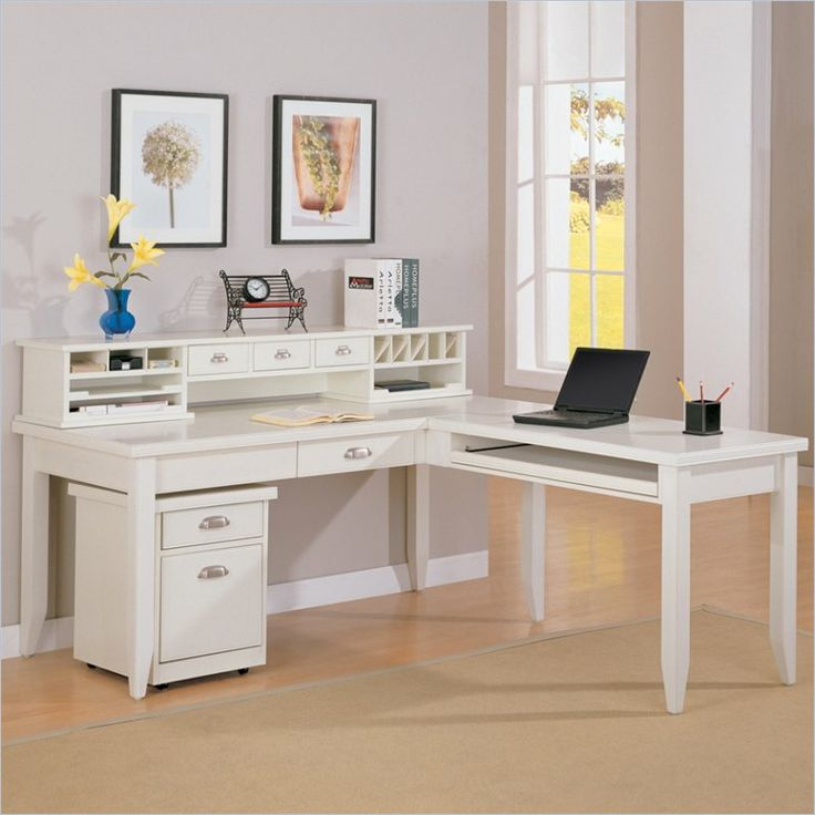 kathy ireland home by martin tribeca loft lshape desk with hutch in white