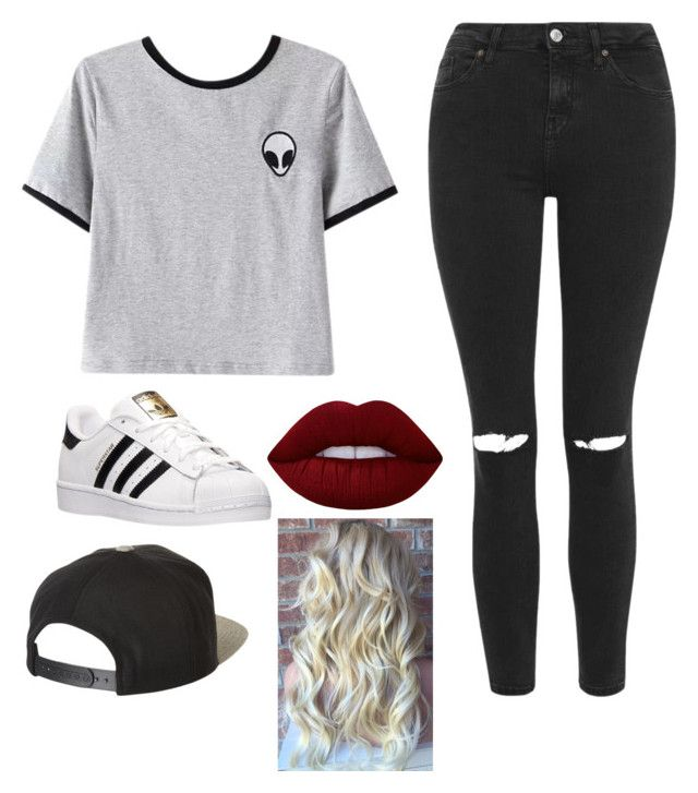 """""""hipster"""" by megan-osh on Polyvore featuring Chicnova Fashion, Topshop, adidas, Lime Crime and Brixton"""