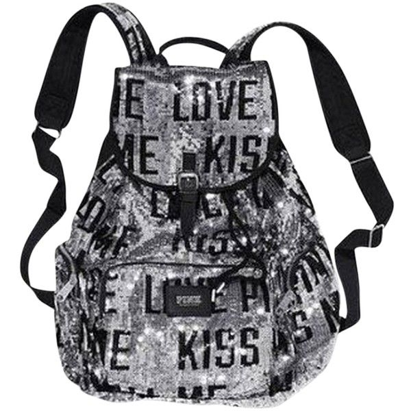 Pre-owned Silver Victoria's Secret Victoria Backpack ($107) ❤ liked on Polyvore featuring bags, backpacks, backpack, accessories, silver, backpacks bags, silver backpack, victoria's secret, blue bag and silver bag