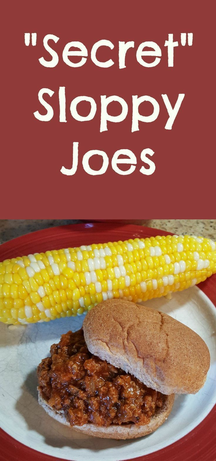 """These """"Secret"""" Sloppy Joes are so quick and easy to make for dinner, plus they have hidden veggies in them!"""