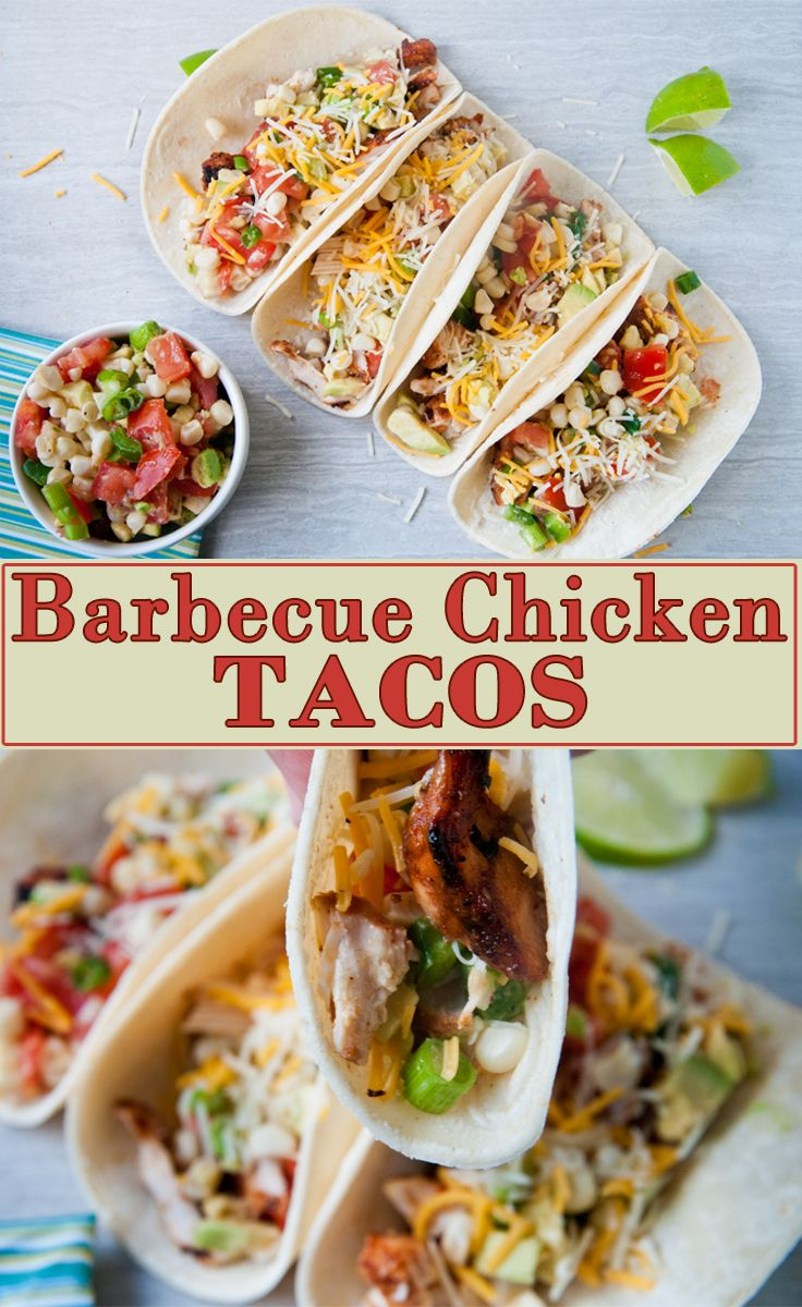 Barbecue Chicken Tacos from leftover barbecue chicken