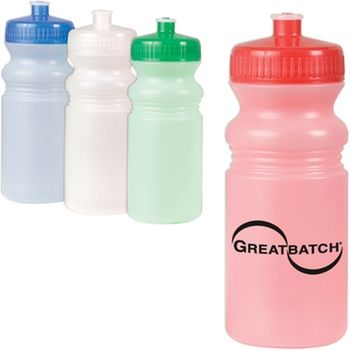 This frosted #logo water bottle is BPA-free and made of 100% biodegradable plastic. #epromos