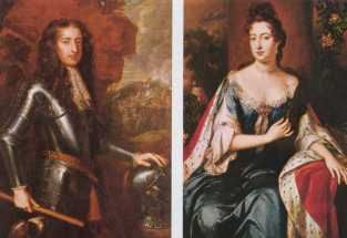 King William III and Queen Mary II (1689-1702). House of Orange. 2nd cousin 8 times removed to Elizabeth II. Reign: 13 yrs 21 days. Succeeded by Mary's sister, Anne.