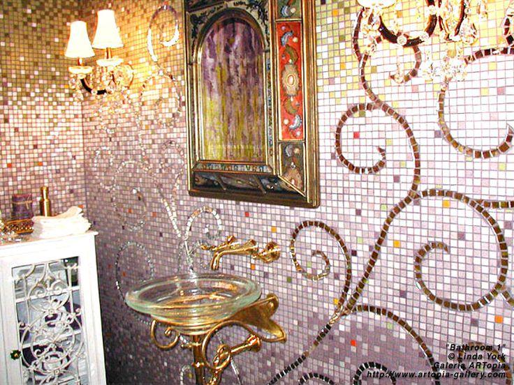 Mosaic Bathroom Designs Interior Awesome Decorating Design