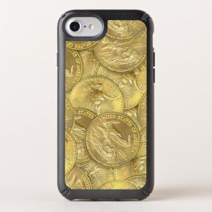 Gold Eagle Coins Speck Presidio iPhone Case - luxury gifts unique special diy cyo