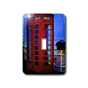 Chris Lord England British Red Telephone Boxes Blue