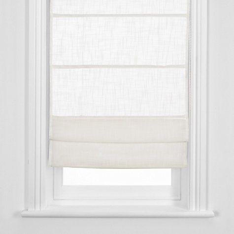 Bay window roman blinds John Lewis Linen Sheer Roman Blinds Online at johnlewis.com