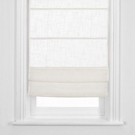 Buy John Lewis Linen Sheer Roman Blind, White Online at johnlewis.com