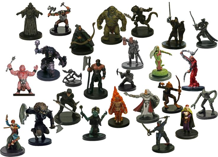 25 Assorted D&d Dungeons and Dragons Miniatures Figures. Includes 25 random assorted Dungeons and Dragons figures. No duplications. Figures are mixed from different sets.