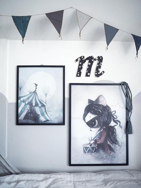 Mrs Mighetto 'Circus Mighetto' Miss Klara watercolour art print - 50x70cm