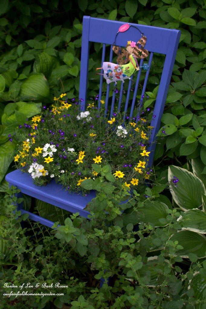 DIY ~ Chair Planter http://ourfairfieldhomeandgarden.com/diy-chair-planter/