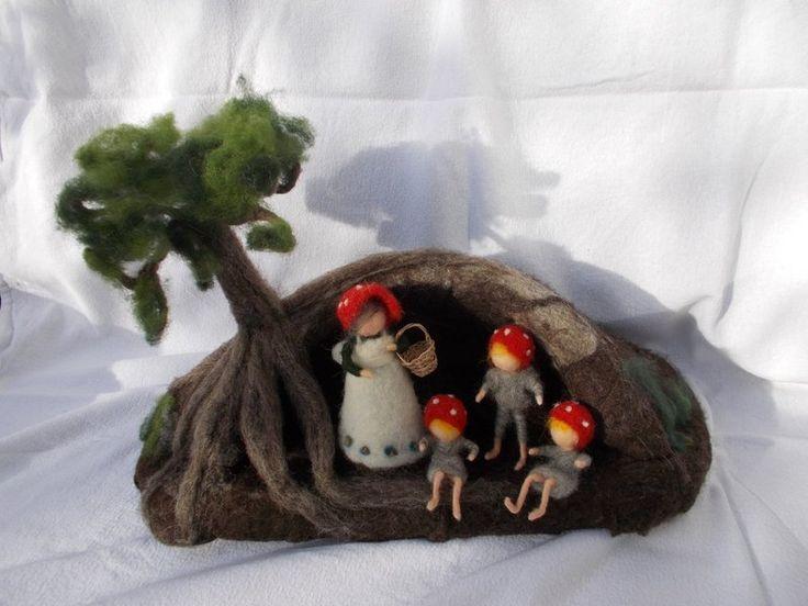 Wichtel Kinder Höhle von Puppenprofi auf DaWanda.com