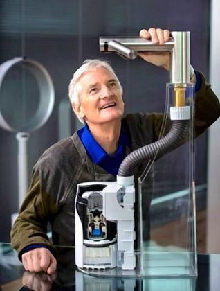 Sir James Dyson OM CBE FRS FREng is a British inventor, industrial designer and founder of the Dyson company. He is best known as the inventor of the Dual Cyclone bagless vacuum cleaner, which works on the principle of cyclonic separation.