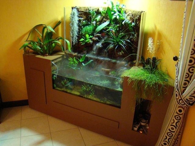 Paludarium de coin tips gardening aquarium systems water terrarium vivarium - Terrarium meuble ...
