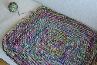 Baby Blanket.  Worked in the round.