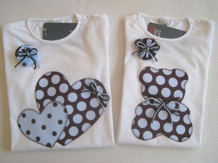 Camisetas personalizadas - lazos de tul: Oso y corazones