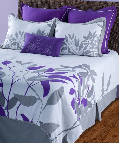 Putty & Purple Comforter Set