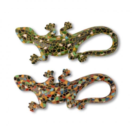 Decorative Mosaic Coloured Wall Mountable Lizard Ornaments