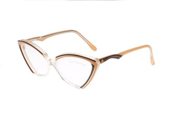 Karl Lagerfeld stunning cateye clear multicolor eyeglasses frames, in 3 color variations – Products