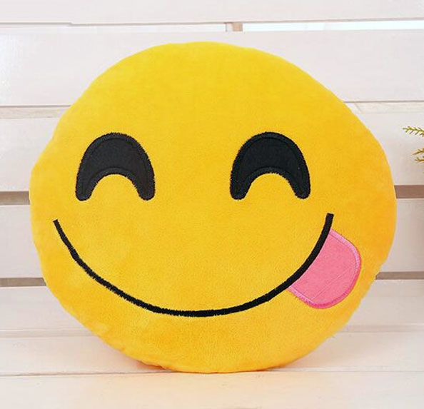 nice Face Savouring Delicious Food (hungry) Emoji Pillow
