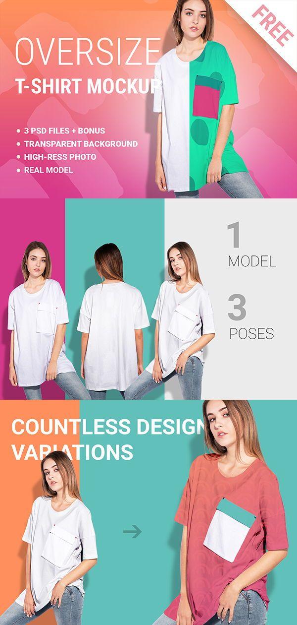 Download Woman Oversize T Shirt Mockup Set Shirt Mockup Clothing Mockup Tshirt Mockup