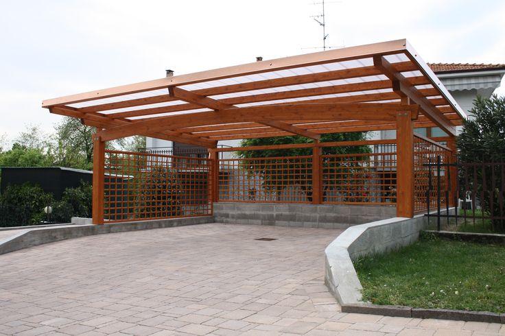 Carport arco tettoia auto 3 posti con copertura in for Carport 2 posti