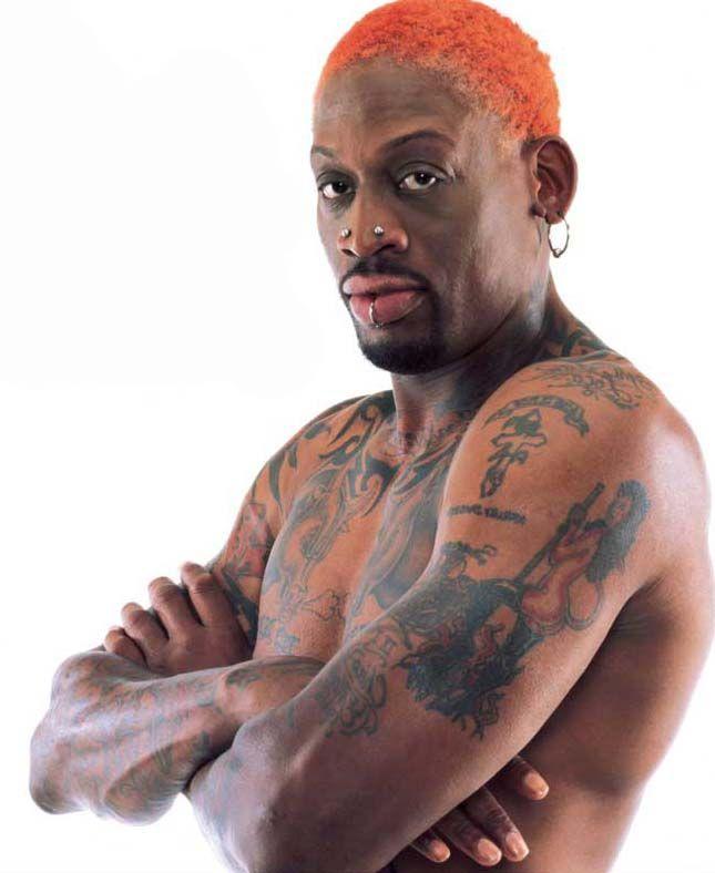 dennis rodman | Dennis Rodman, tatouage basketteur NBA, tous les tattoos de Dennis ...