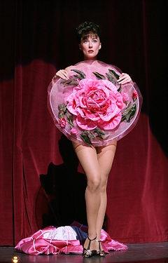"Gypsy - 2008 Broadway Revival. Laura Benanti as Gypsy Rose Lee performing ""The Strip."""