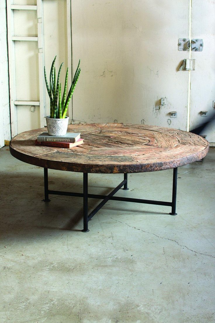 Wooden Wheel Table ~ Ideas about wagon wheel table on pinterest